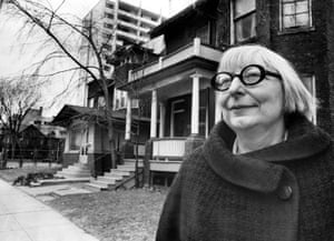 'She was a genius' … Jane Jacobs outside her home in Toronto in 1968.