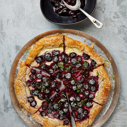 Yotam Ottolenghi's blueberry, cream cheese and lime crostata.