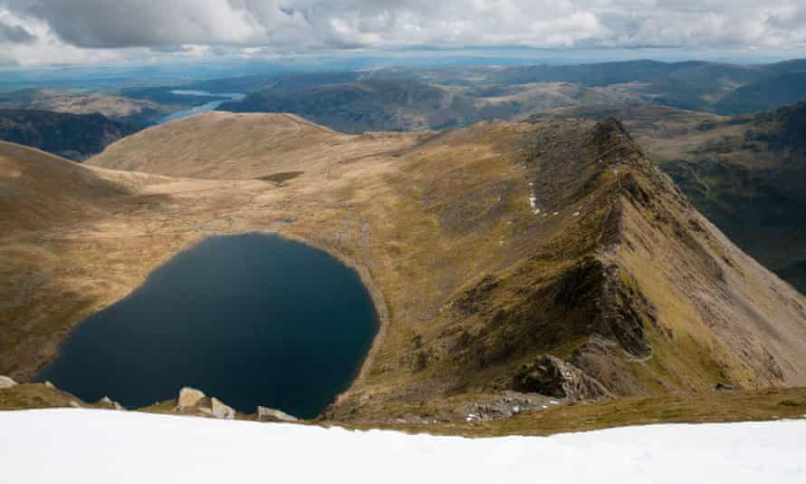 View of Striding Edge and Red Tarn from Helvellyn
