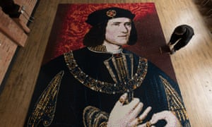 A Richard III mosaic, made out of Lego, at a visitor centre in Leicester.