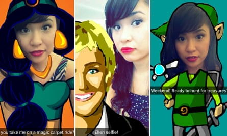 Cyrene Quiamco uses the drawing tool to liven up her selfies.