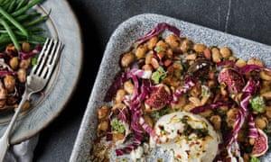 Figs, butterbeans, ricotta, radicchio, almonds