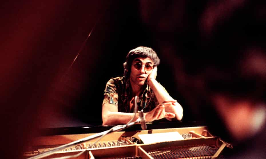Jazz pioneer … Paul Bley at a TV recording in Denmark in 1975.