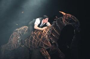 Kit Harington in Warhorse, New London theatre, 2009.