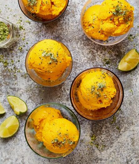 Yotam Ottolenghi's no-churn mango ice-cream.