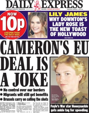 Daily Express - not in support.