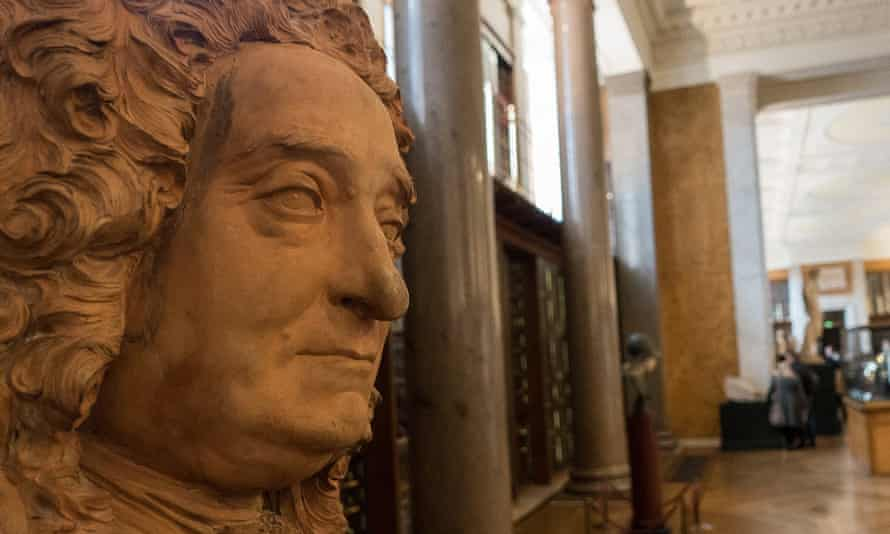 The bust of Sir Hans Sloane at the British Museum