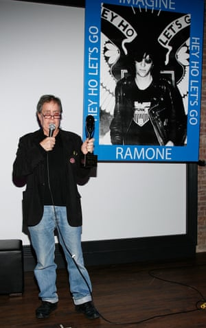 Fields at the re-presentation of Joey Ramone's Rock & Roll Hall of Fame induction award in 2009.