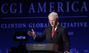 Former president Bill Clinton speaks at the annual gathering of the Clinton Global Initiative America in Denver this week.