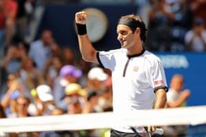 All too easy for Roger Federer.