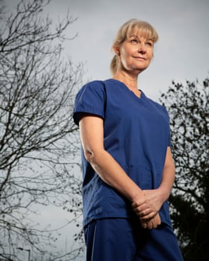 Dawn Bilbrough, a NHS critical care nurse, photographed near her home in York.