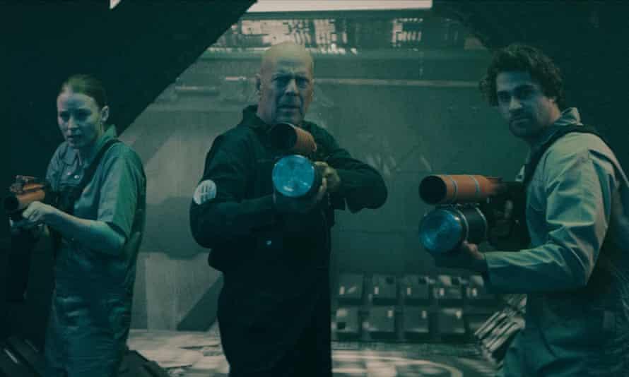 Bruce Willis (centre) in Anti-Life.