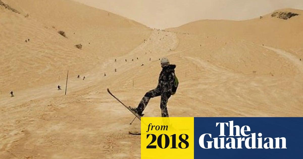Orange snow transforms eastern Europe into 'Mars'