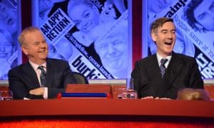 Jacob Rees-Mogg, right, with team captain Ian Hislop on Have I Got News For You.