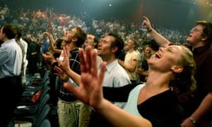 Worshippers at a Hillsong church