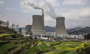 A newly built Chinese state-owned coal fired power plant in Liuzhi County, Guizhou province, southern China.