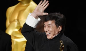 Jackie Chan with his Oscar.