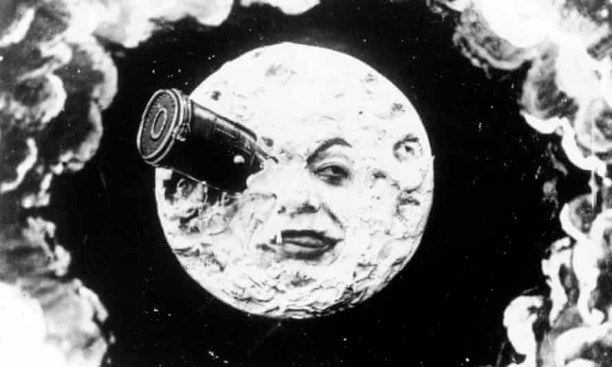 Moon struck ... the classic shot from A Trip to the Moon (1902).