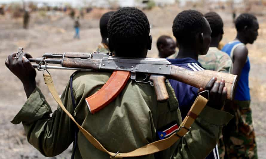 A soldier from South Sudan's SPLA