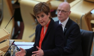Nicola Sturgeon during first minister's questions