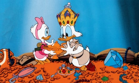Scrooge McDuck tops the Forbes list of wealthiest fictional characters with $65bn.