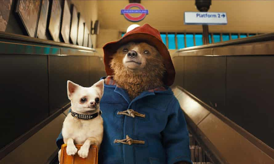 A still from the film Paddington, 2014, in which the bear is 'a benign signifier of welcomed migration'.