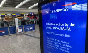 The pilots strike sparked cancellation emails from BA sent in error but it promised no passenger would be left out of pocket.