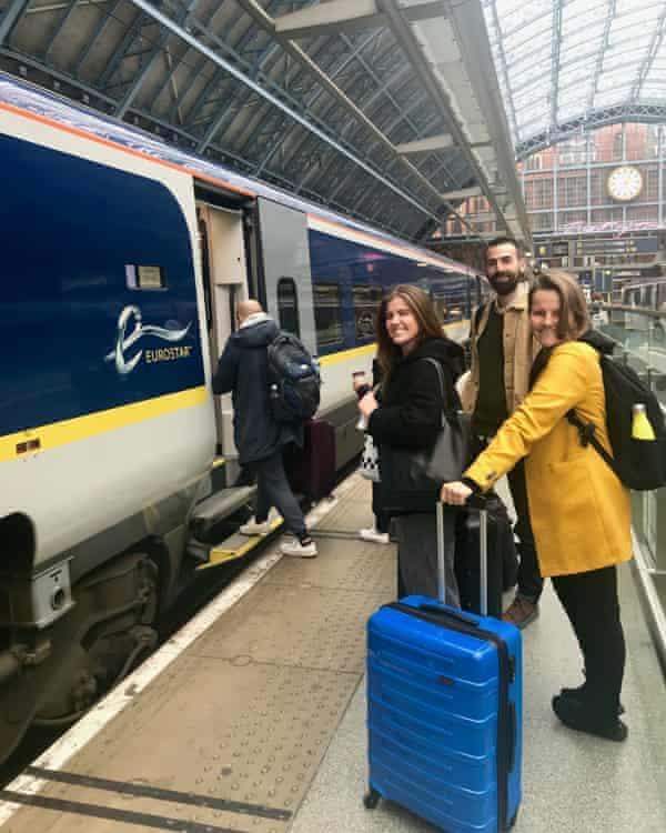 Zetteler staff at St Pancras station on their way to  Milan Design Week