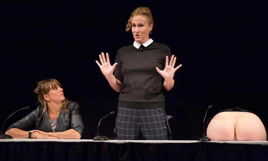 Zoe Coombs Marr, Ursula Martinez and Adrienne Truscott in Wild Bore.