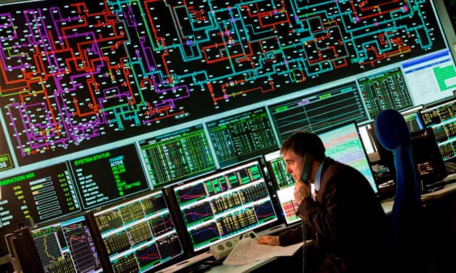National Grid electricity transmission control centre.