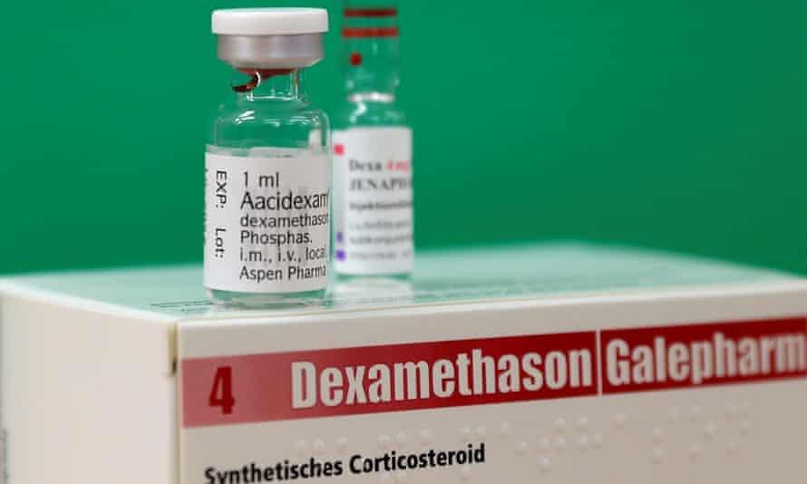 An ampoule of dexamethasone