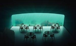 The underwater restaurant in Lindenes, southern Norway