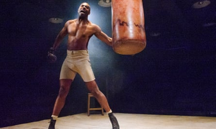 'I want the work on our stage to reflect the world we live in,' says Younis … a scene from The Royale, a play he directed at the Bush in 2015.