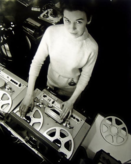 Innovative electronic musician Delia Derbyshire, pictured in about 1965, who wrote the Doctor Who theme.