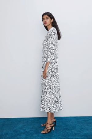 The Zara polka dot printed dress.