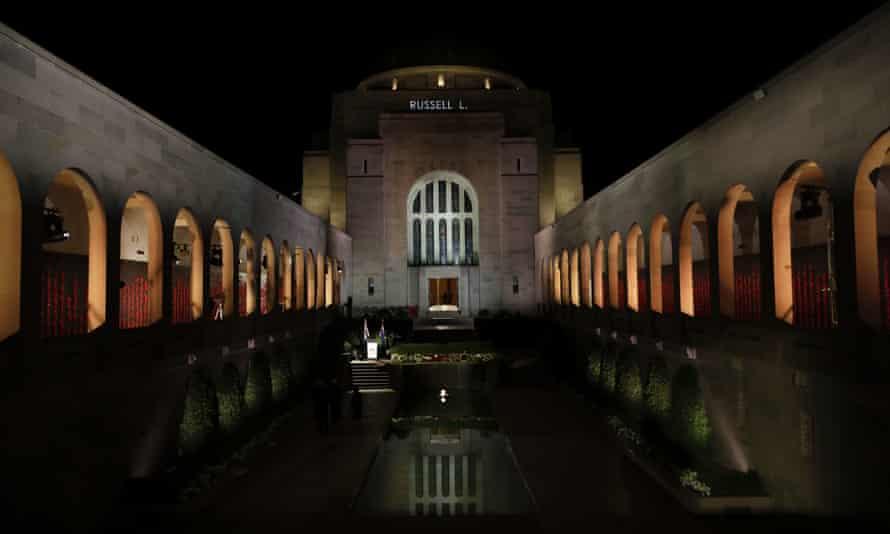 Anzac Day Commemorative Service at the Australian War Memorial in Canberra, Saturday, April 25, 2020.