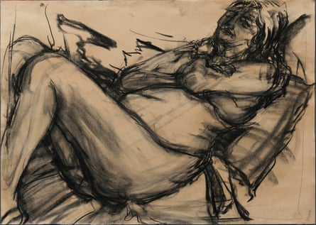 One of the life drawings of professor Mary Beard.