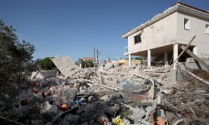 Police believe that an explosion at this house in Alcanar on Wednesday night is linked to the attacks