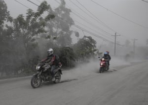 Taal had been restive for months until it suddenly rumbled back to life on Sunday, blasting steam, ash and pebbles up to nine miles (15km) into the sky