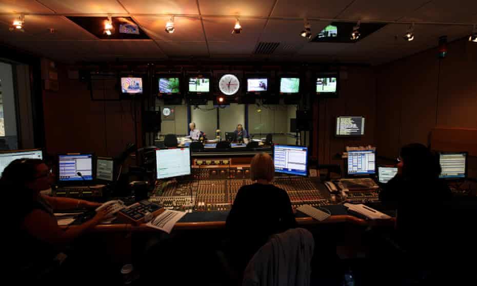 The Today programme studio on BBC Radio 4.