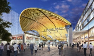 The design for the new entrance to Euston station