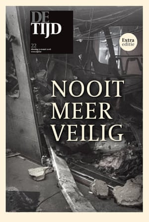 The front page of De Tijd