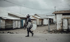 A Congolese policeman in Goma, DRC, a country where evidence of torture has been widely noted.