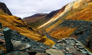 A view from Honister slate mine in the Lakes, UK.