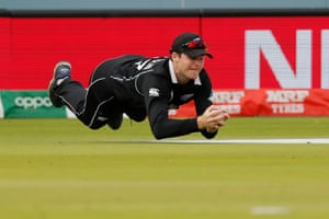 Bairstow soon followed suit and New Zealand's Lockie Ferguson took a stunning catch to dismiss Eoin Morgan, leaving the hosts in a perilous position on 86-4