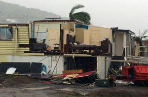 Another damaged house in the coastal town of Yeppoon.