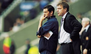 Allardyce, right, in younger days with his assistant at Bolton, Phil Brown, back in 2001.