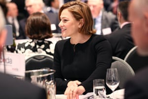 Jackie Trad at her table before delivering a state a keynote presentation on the Queensland state budget in June 2019.