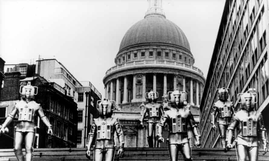 One of Doctor Who's most famous images – the Cybermen at St Paul's Cathedral, London.