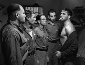 Hume Cronyn and Burt Lancaster in Brute Force, 1947, directed by Jules Dassin.